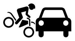 bikecarcrashoutline