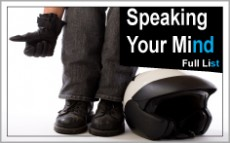 Speaking Your Mind Full List